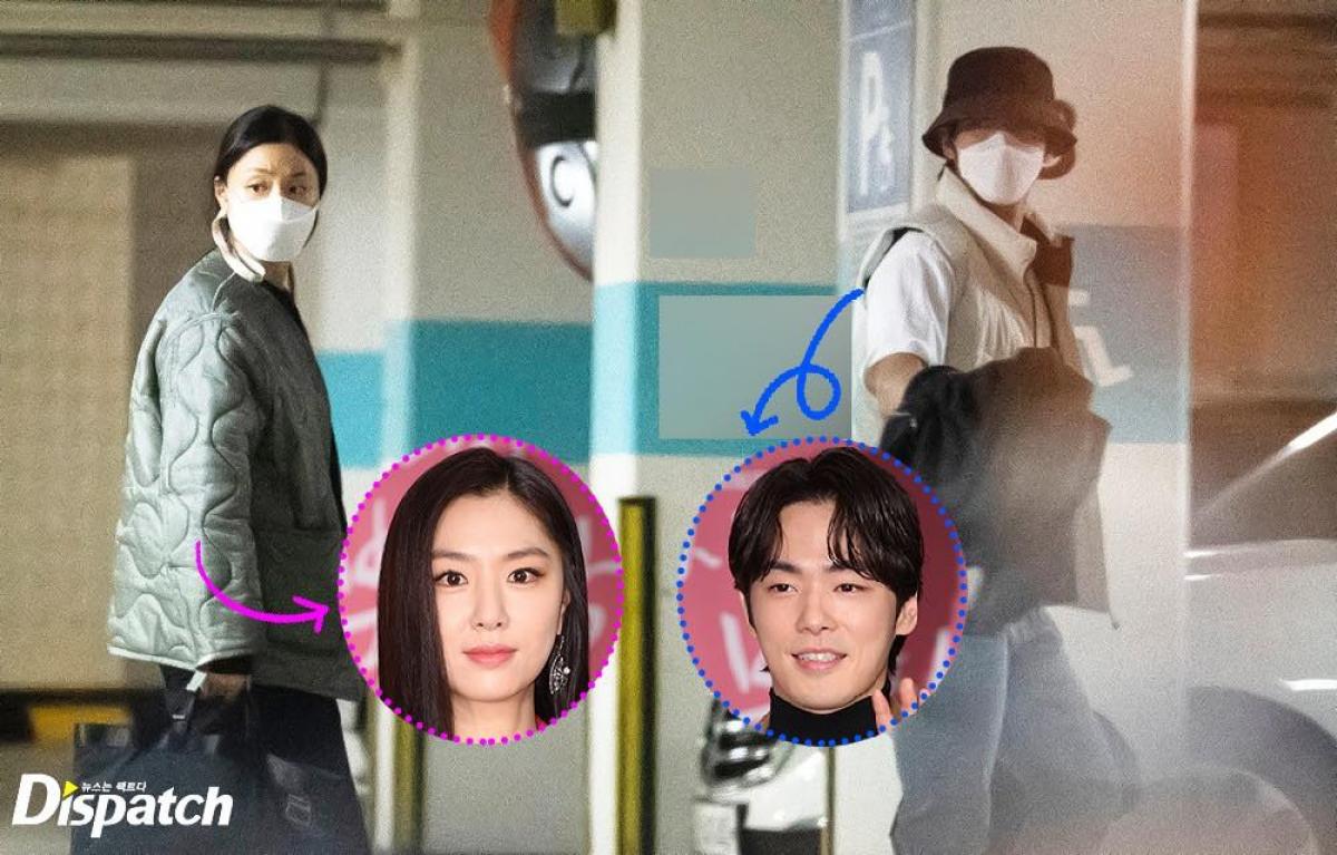 Hình ảnh hẹn hò của cặp đôi Seo Ji Hye và Kim Jung Hyun do Dispatch đăng tải.