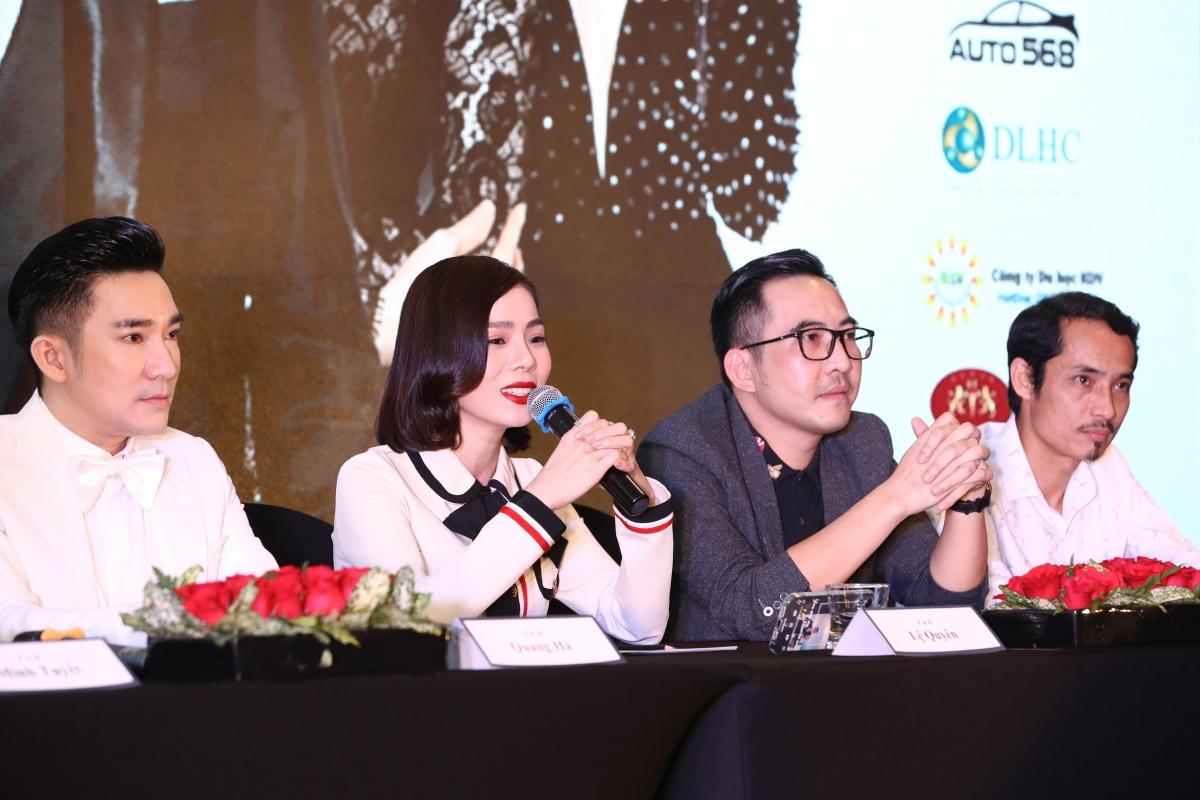 Ca sĩ Lệ Quyên chia sẻ về màn song ca cùng Quang Hà trong liveshow.