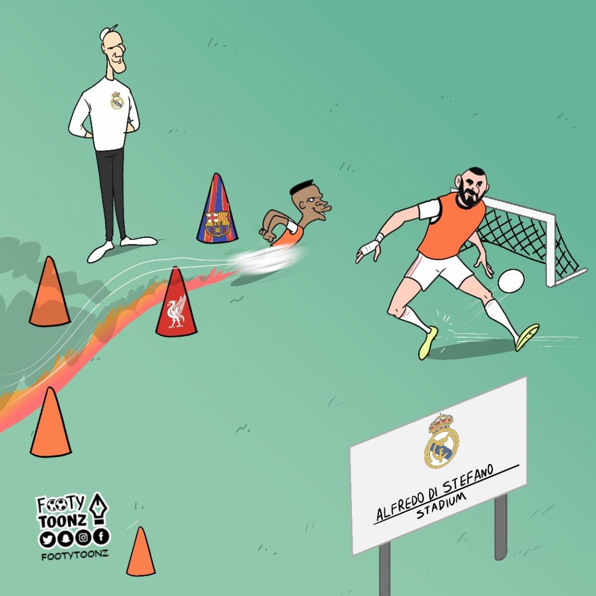Real Madrid đã hạ gục Barca như thế nào. (Ảnh: Footy Toonz)