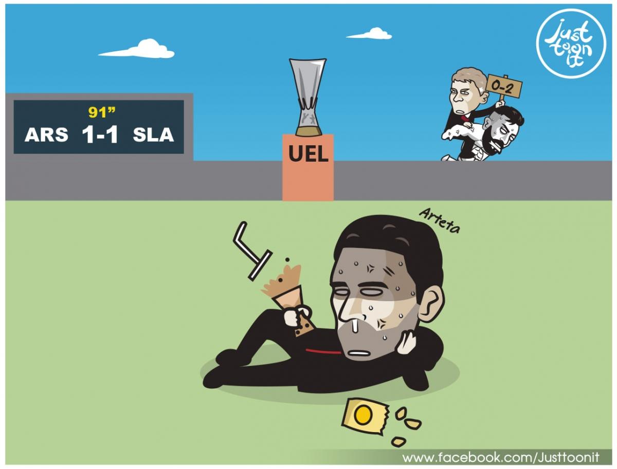 Toàn cảnh tứ kết Europa League. (Ảnh: Just Toon It)