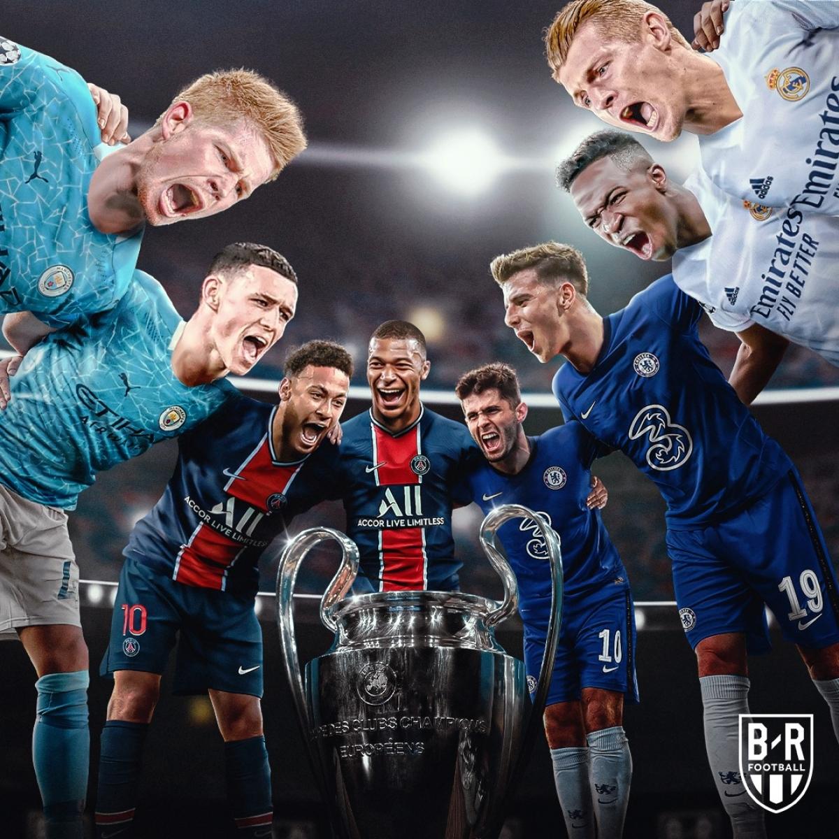 Đại chiến nhà giàu tại bán kết Champions League mùa này. (Ảnh: Bleacher Reports)