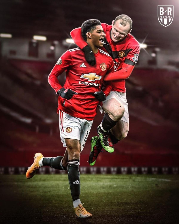 Marcus Rashford tái hiện phong độ ghi bàn của Wayne Rooney. (Ảnh: Bleacher Reports)