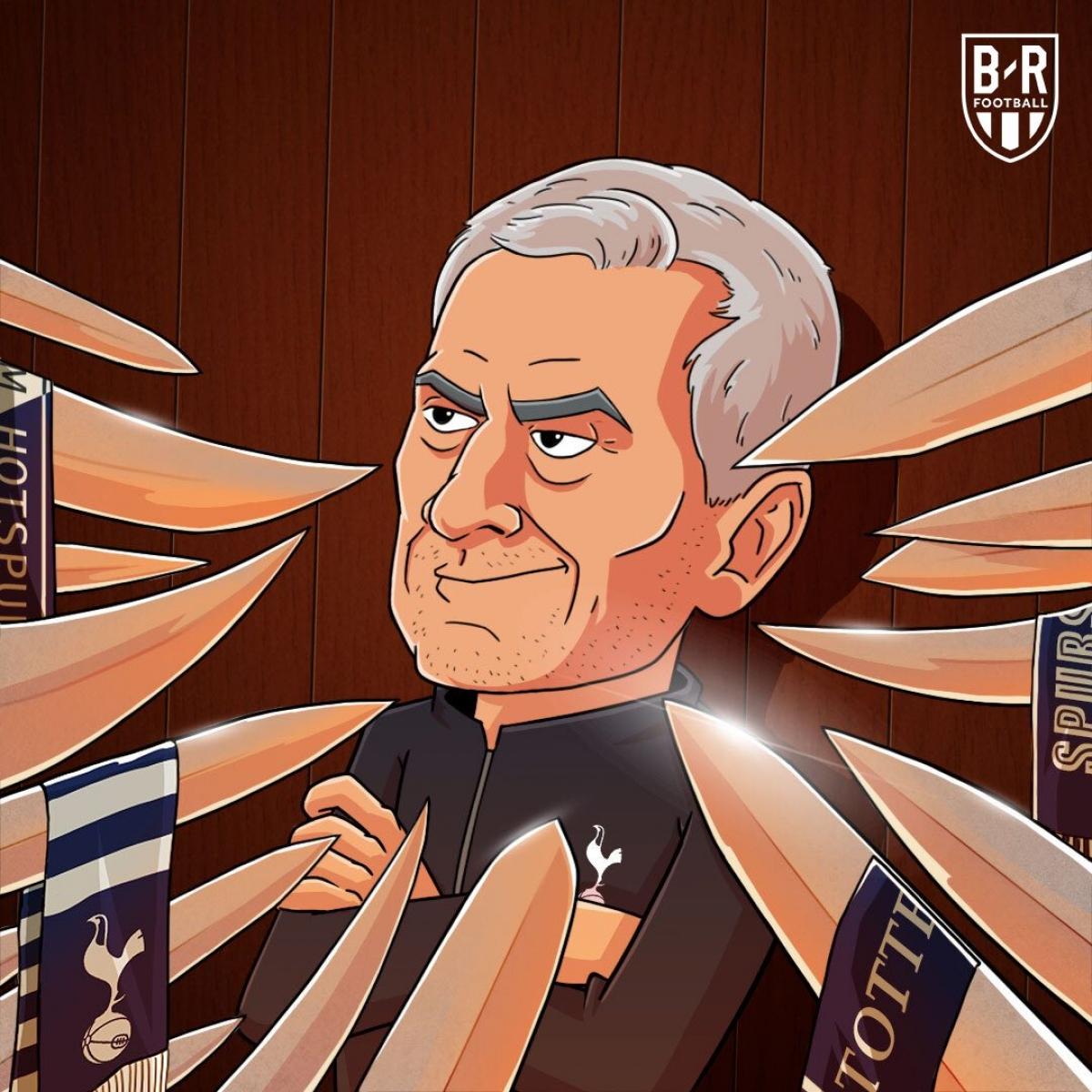 Jose Mourinho lâm nguy ở Tottenham. (Ảnh: Bleacher Reports)