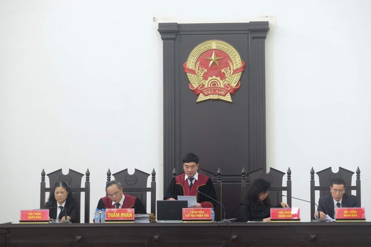 HĐXX tại phiên tòa.