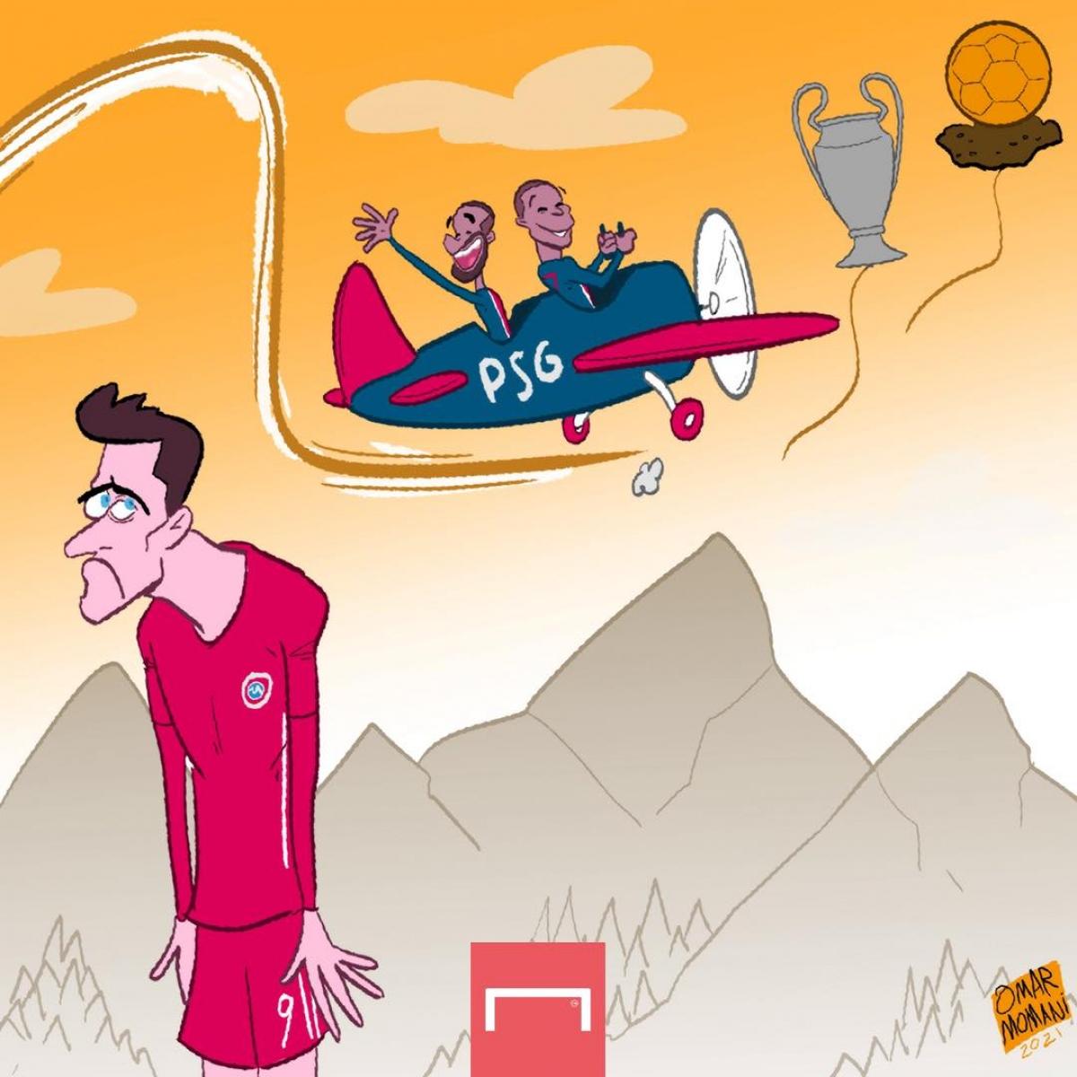 Bayern Munich bị loại, Robert Lewandowski tan mộng giành Quả bóng vàng? (Ảnh: Omar Momani)
