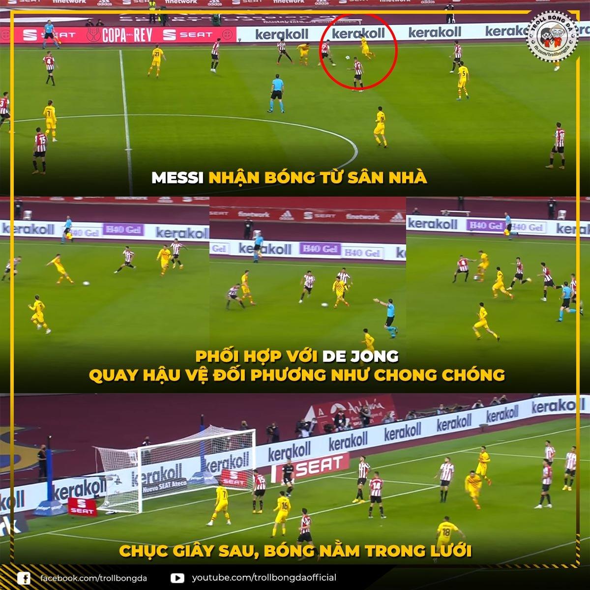 Barca đã làm khổ Athletic Bilbao như thế nào? (Ảnh: Troll Bóng Đá)