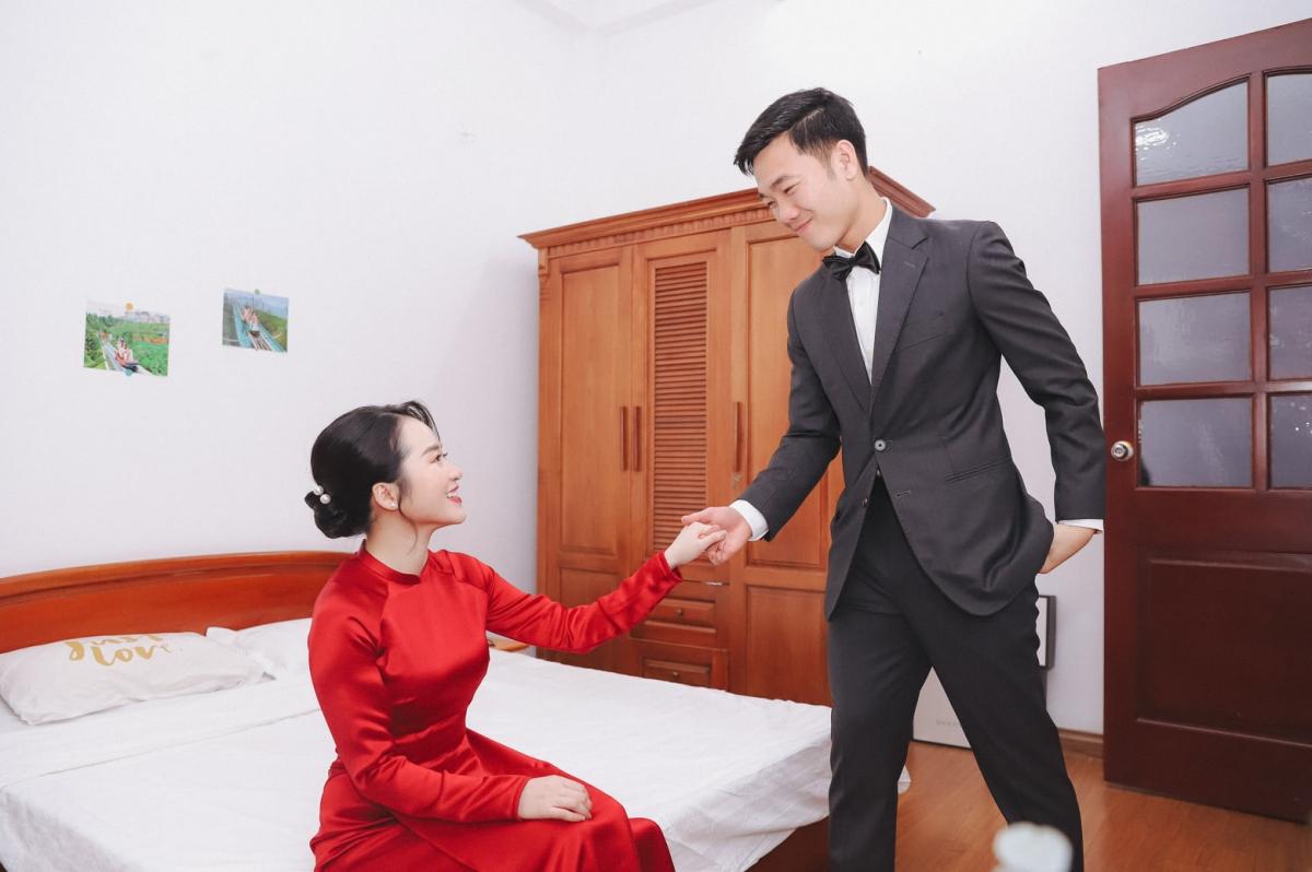 """Xuân Trường - Nhuệ Giang """"đốn tim"""" người hâm mộ với hình ảnh tình tứ."""