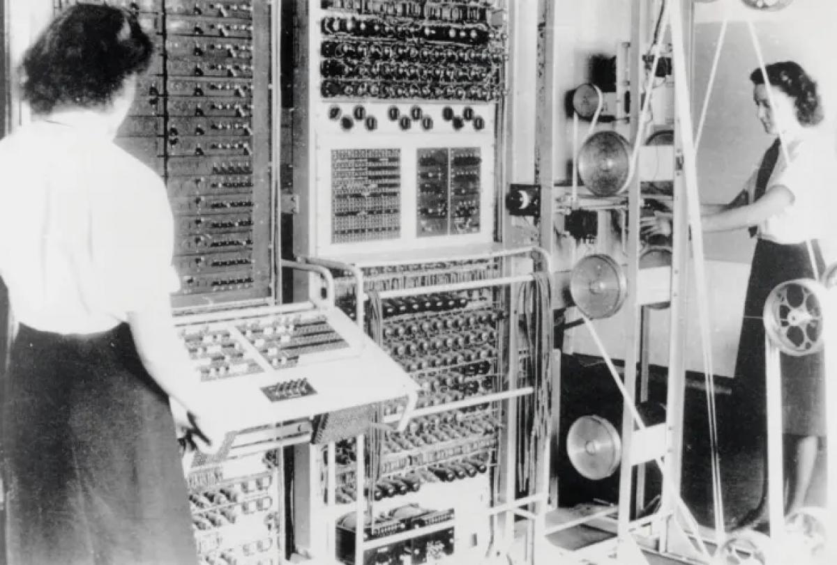 Colossus là máy tính điện tử đầu tiên trên thế giới tại Bletchley Park ở Buckinghamshire. Ảnh: Getty Images