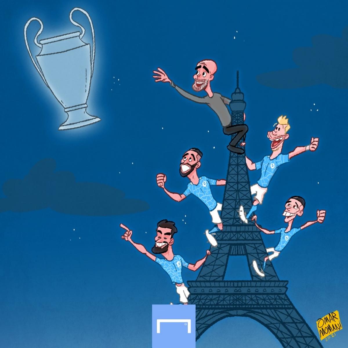 Man City mơ về chức vô địch Champions League. (Ảnh: Omar Momani)