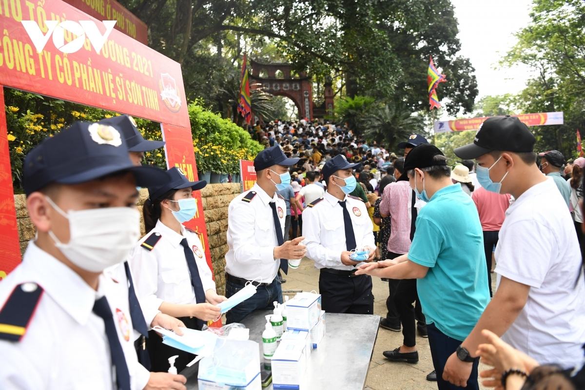 Each person is requested to thoroughly wash their hands and to don a face mask before entering the temple complex.
