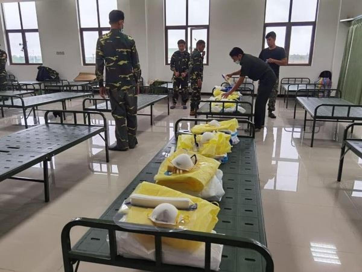 Bệnh viện dã chiến tại Lào đã sẵn sàng tiếp nhận bệnh nhân Covid-19.
