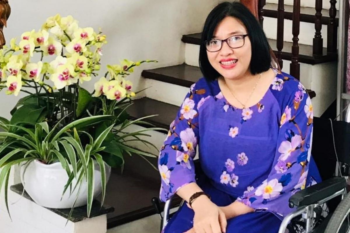 """Chị Lê Thị Hà: """"Tôi nằm trong số ít người khuyết tật đến rạp xem phim"""""""