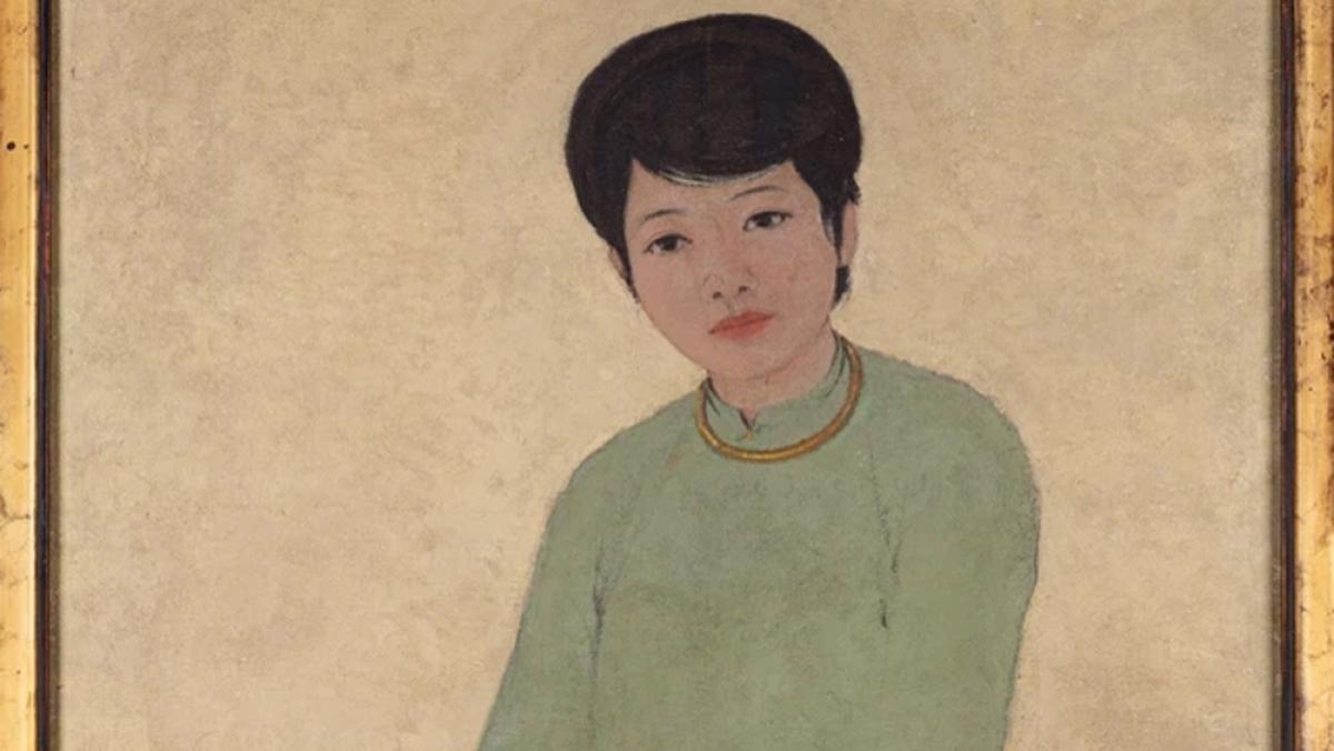 """""""Portrait de Mademoiselle Phuong""""là tác phẩm sơn dầu trên vải, 135,5 x 80 cm của họa sĩ Mai Trung Thứ (1906 - 1980), một trong bốn danh hoạ Việt Nam xuất thân từ trường Mỹ Thuật Đông Dương và thành danh ở Pháp."""