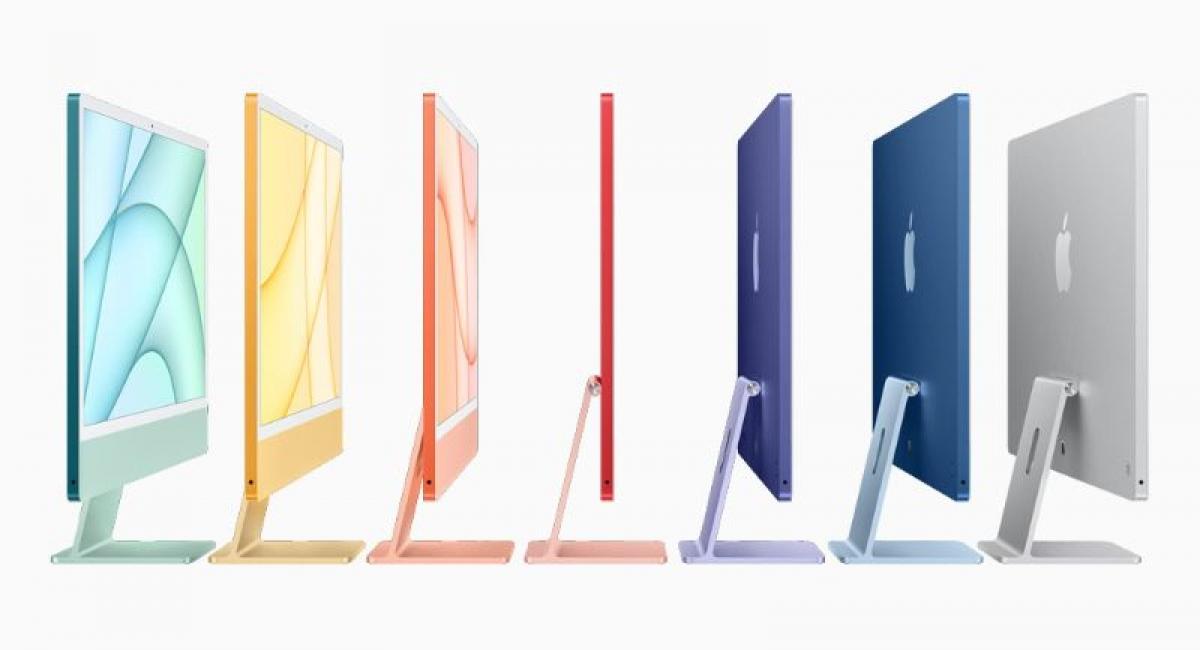 7 màu sắc đến với iMac M1 mà Apple vừa ra mắt.
