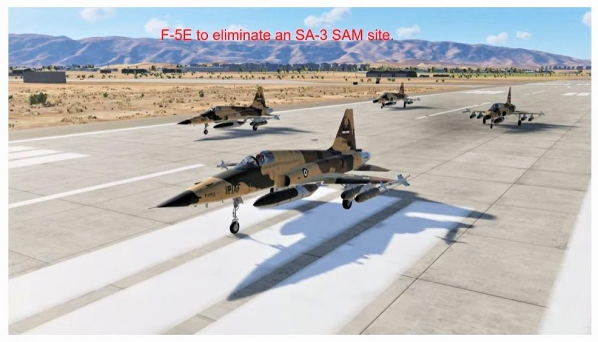 Những chiếc F-5E được giao nhiệm vụ tấn công các tổ hợp tên lửa phòng không Iraq; Nguồn: internet