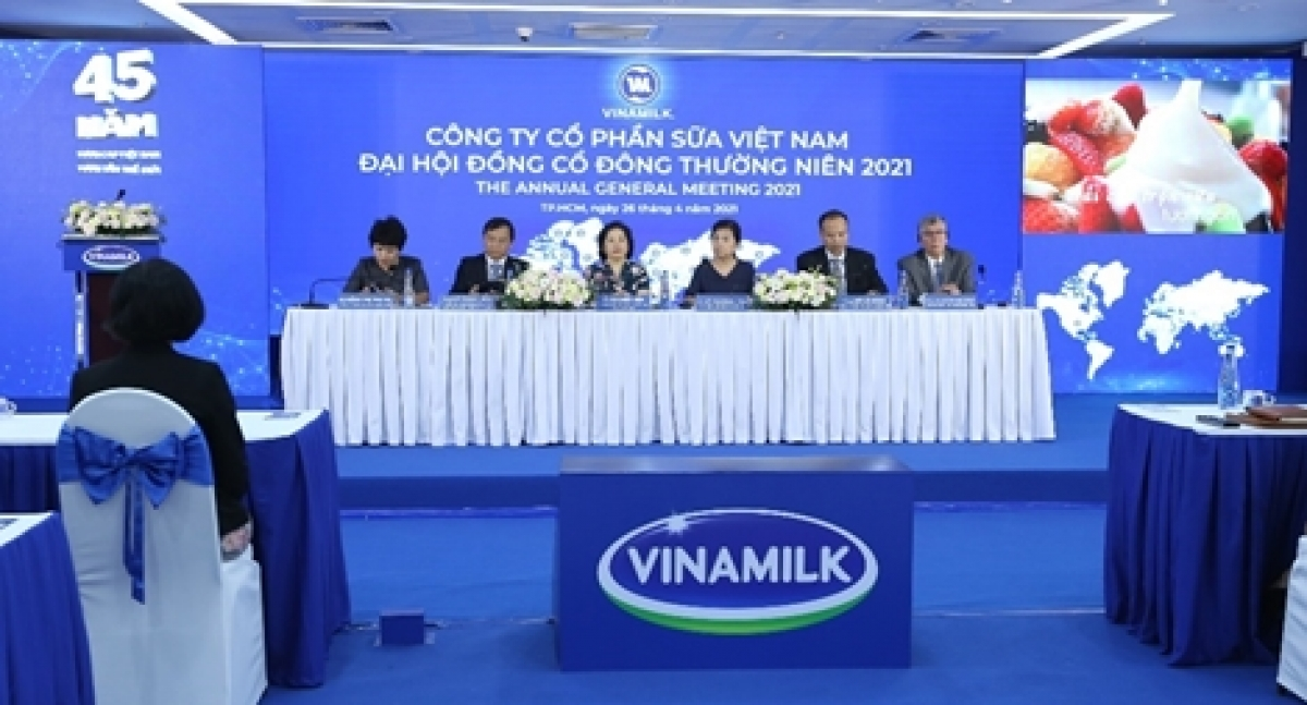 Toàn cảnh Đại hội đồng cổ đông Vinamilk 2021.