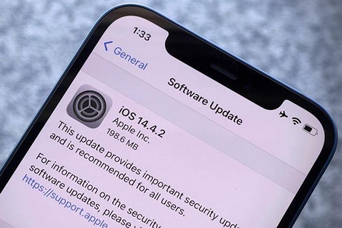 Người dùng sẽ không thể hạ cấp về iOS 14.4.1 sau khi đã lên iOS 14.4.2 - (Ảnh chụp màn hình)