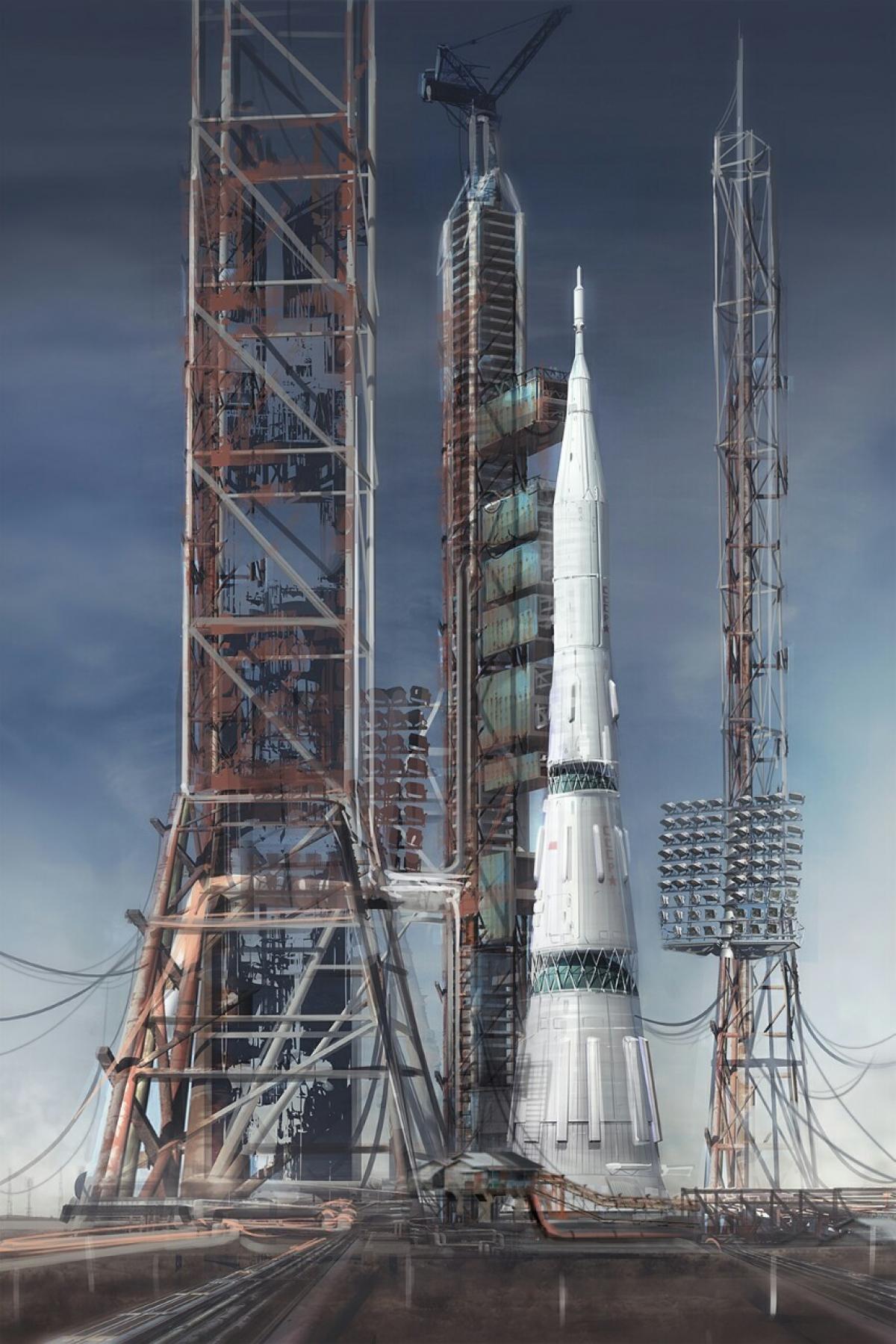 Tên lửa đẩy N1 của Liên Xô; Nguồn: spacethatneverwas.tumblr.com