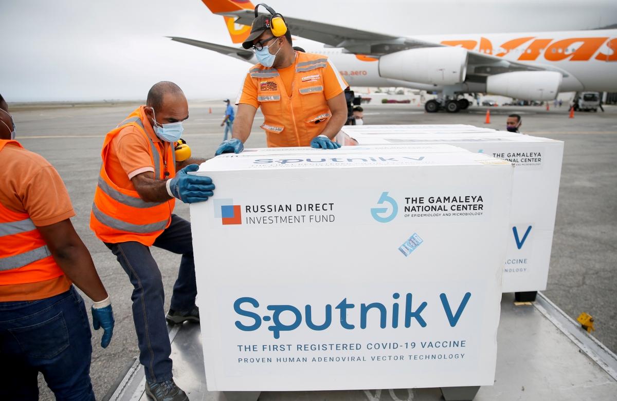 Vaccine Sputnik V của Nga được vận chuyển tới Venezuela. Nguồn: Reuters