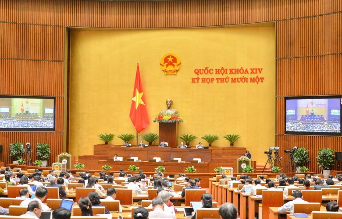 Chiều 7/4, Quốc hội phê chuẩn đề nghị việc miễn nhiệm một số Phó Thủ tướng Chính phủ, một số Bộ trưởng và thành viên khác của Chính phủ; một số Phó Chủ tịch và một số Ủy viên Hội đồng bầu cử quốc gia; một số Ủy viên Hội đồng Quốc phòng và An ninh.