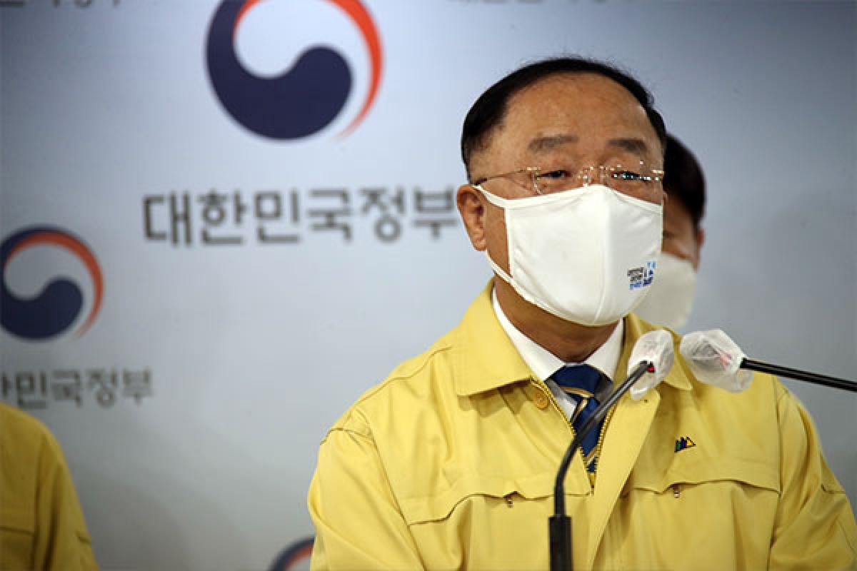 Quyền Thủ tướng Hàn Quốc Hong Nam-ki. Ảnh: KBS.