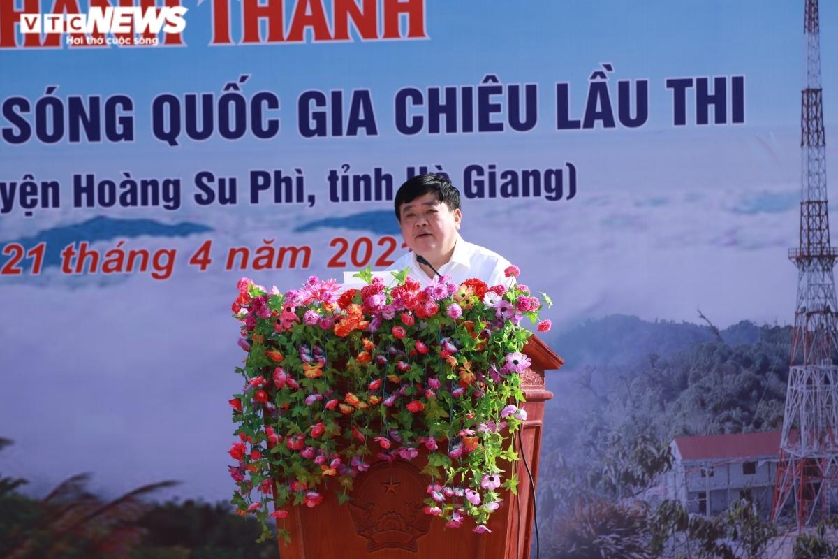 Tổng Giám đốc VOV Nguyễn Thế Kỷ phát biểu tại buổi lễ.(Ảnh: VTCNews)