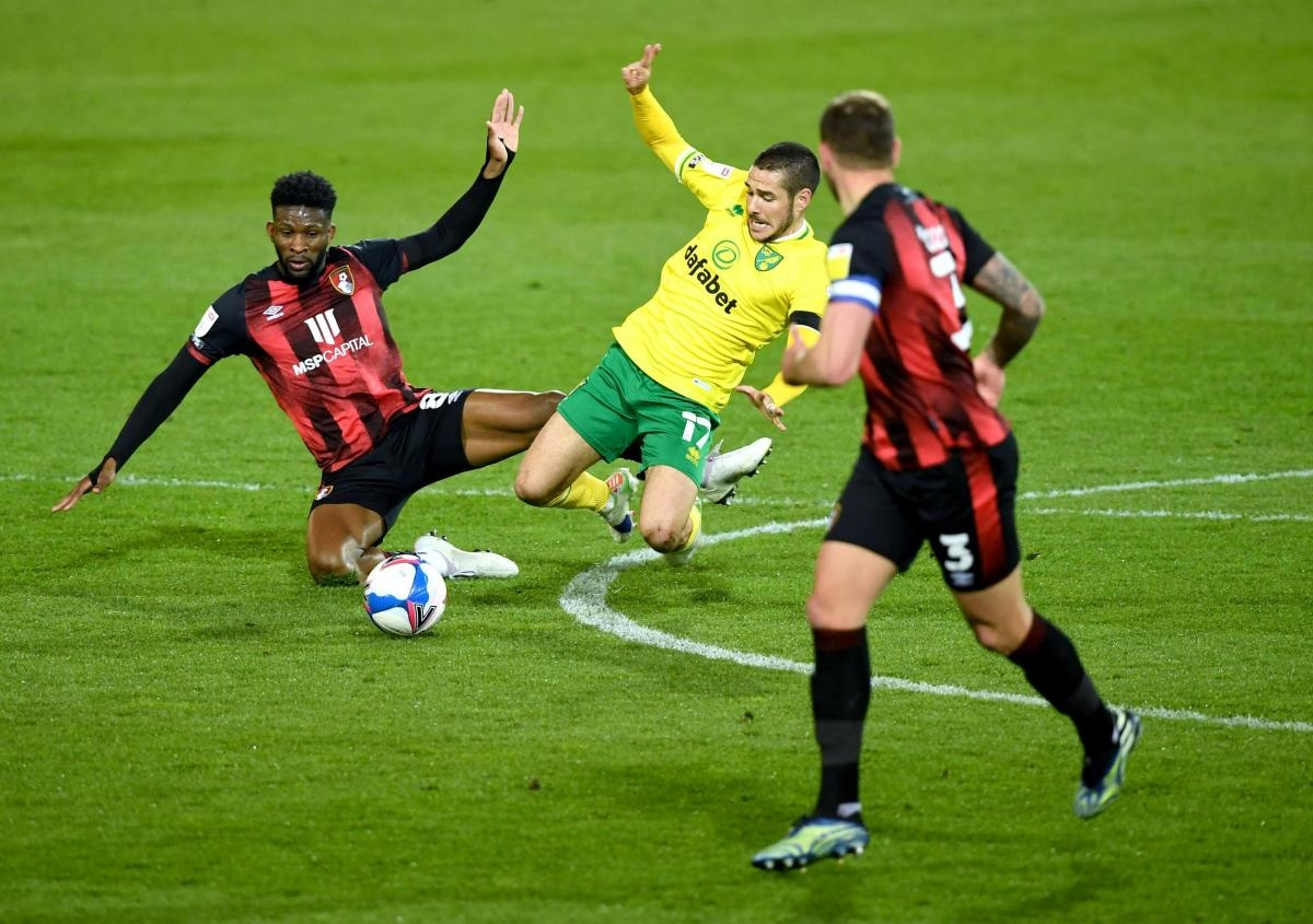 Sau khi thăng hạng sớm, Norwich thất thủ 1-3 trước Bournemouth trên sân nhà. (Ảnh: Getty).