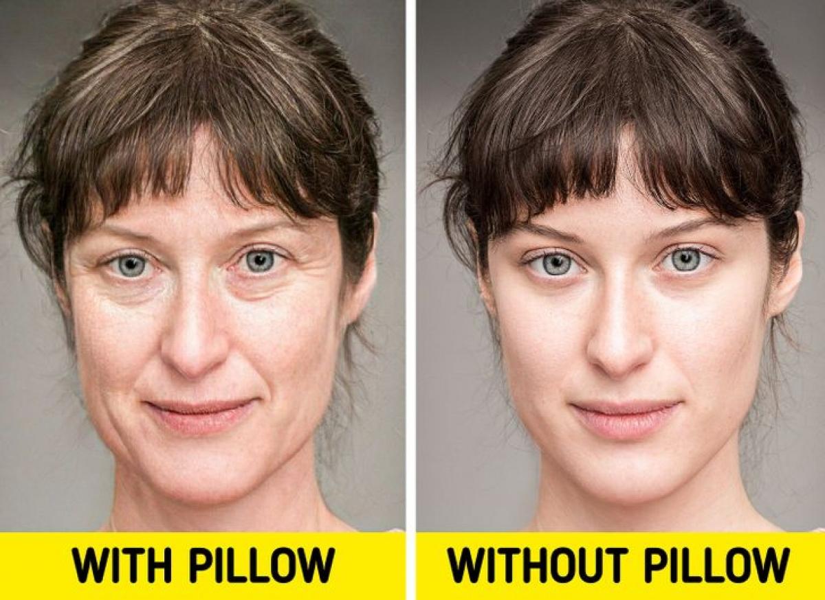Ngủ không dùng gối sẽ mang lại lợi ích lâu dài cho làn da. Vỏ gối cotton sẽ hút ẩm và dầu ở làn da. Điều này có thể khiến da bạn bị đóng vảy và bong tróc.