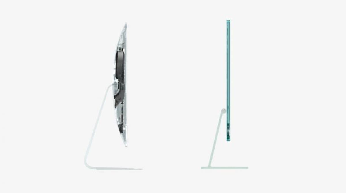 Thiết kế iMac mới mỏng hơn nhiều so với tiền nhiệm.