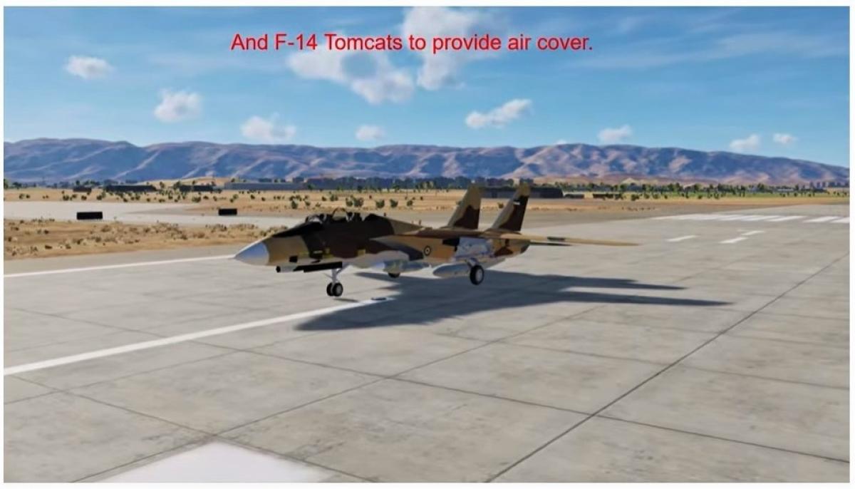 Các máy bay F-14 Tomcats có nhiệm vụ che chắn trên không cho các lực lượng tham gia chiến dịch; Nguồn: internet