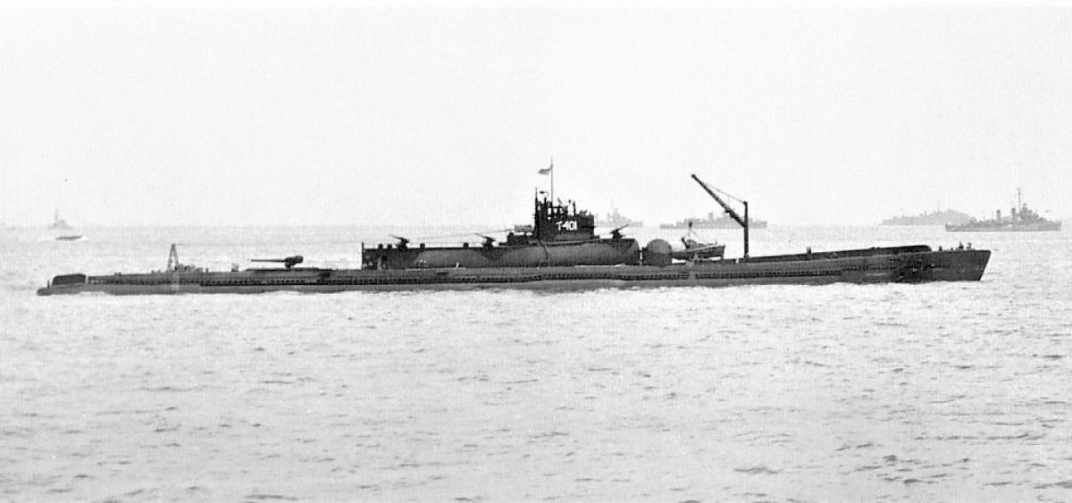 Ra đời trong Thế chiến II nhưng I-401 được tích hợp nhiều công nghệ tiên tiến và có khả năng mang theo 3 thủy phi cơ; Nguồn: wikipedia.org