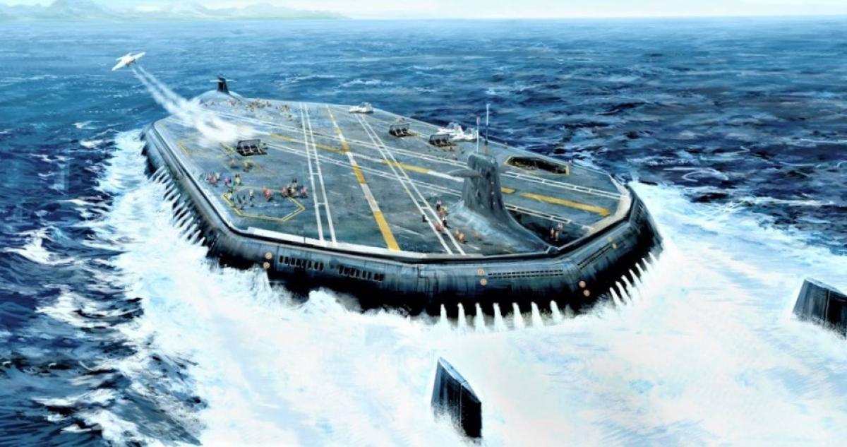 Với nền khoa học-kỹ thuật và công nghệ hiện đại, việc tạo ra một tàu sân bay ngầm là hoàn toàn khả thi; Nguồn: cavok.com.br