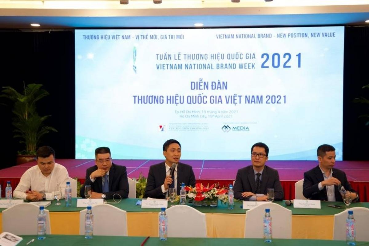 """Hội thảo """"Tận dụng đòn bẩy Thương hiệu Quốc gia - Nâng tầm thương hiệu sản phẩm Việt"""" (Ảnh: KT)"""