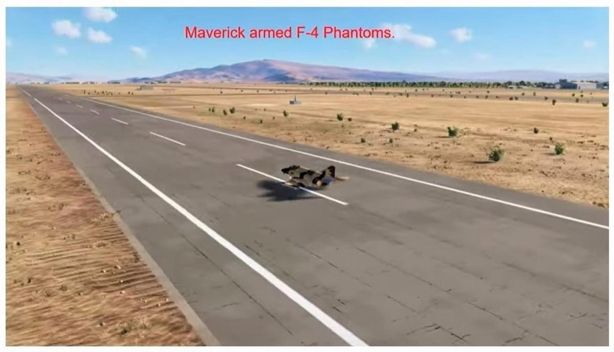 Cường kích F-4 Fantom có nhiệm vụ đánh bom tàu và các cơ sở dầu mỏ Iraq; Nguồn: internet