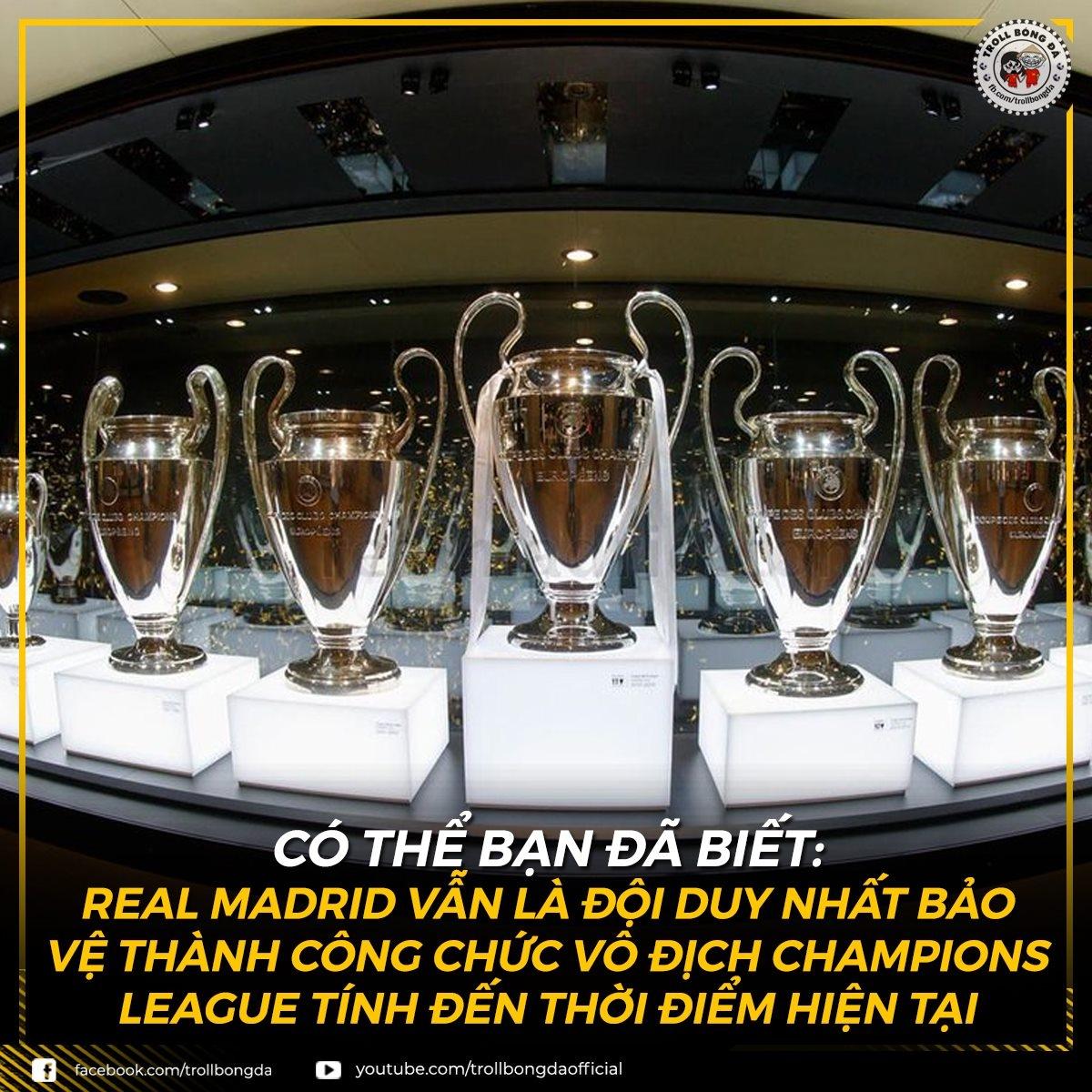 Real Madrid duy trì kỷ lục khó tin ở Champions League (Ảnh: Troll bóng đá).