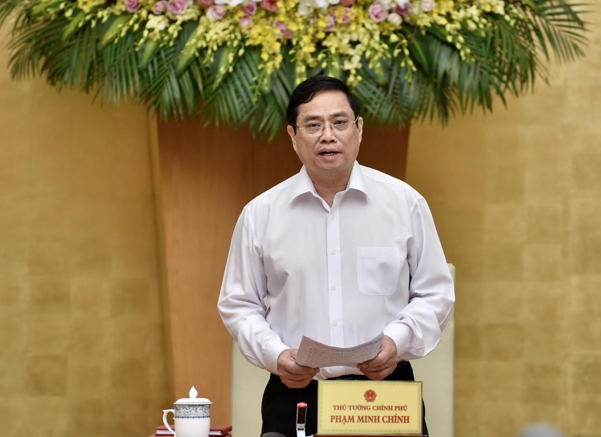 Thủ tướng Chính phủ Phạm Minh Chính phát biểu khai mạc phiên họp. Ảnh: VGP/Nhật Bắc