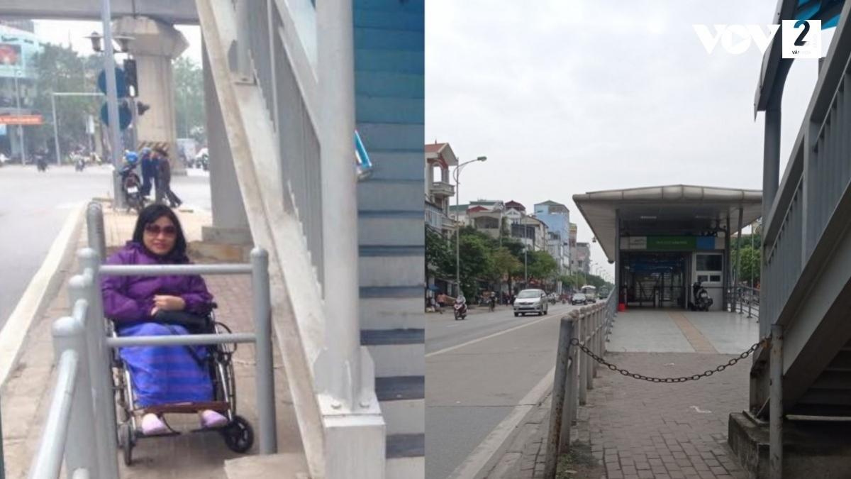 Không phải điểm chờ xe buýt BRT nào người khuyết tật cũng có thể tiếp cận được