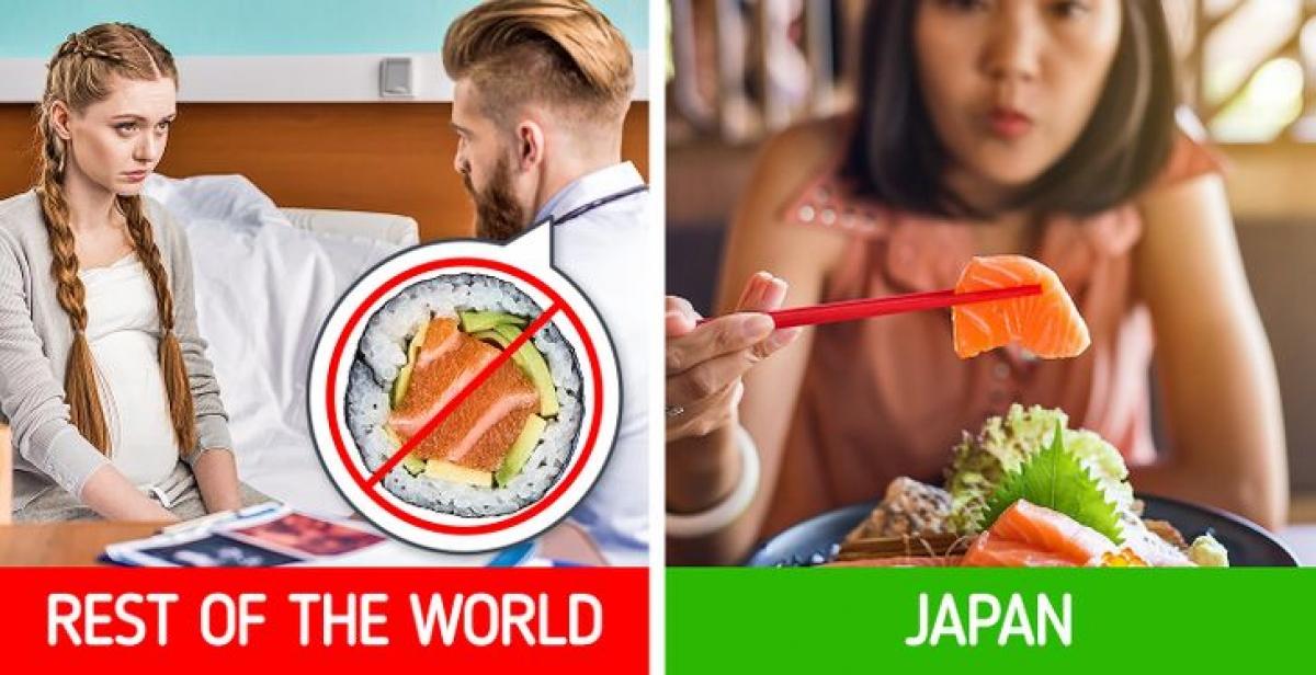 Trong khi các bác sĩ ở Mỹ khuyên phụ nữ mang thai tránh ăn cá sống vì nó có thể chứa vi khuẩn gây hại thì người Nhật lại khuyến khích điều đó. Đây được coi là thực phẩm lành mạnh của chế độ ăn uống khi mang thai.