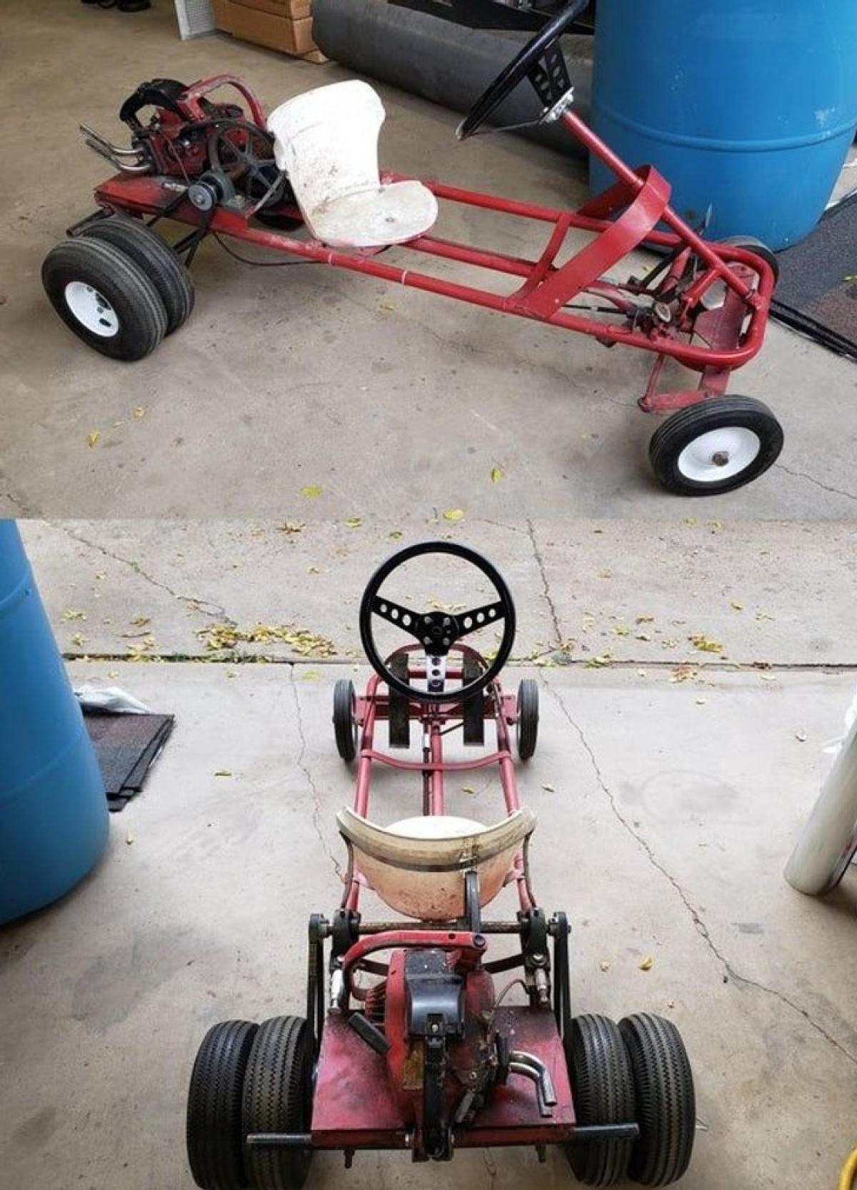 Xe cút kít ba chế tạo cho tôi hồi tôi 6 tuổi.