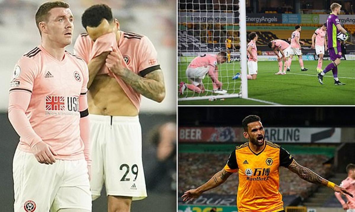 Sheffield xuống hạng sau trận thua Wolves. (Ảnh: Daily Mail)