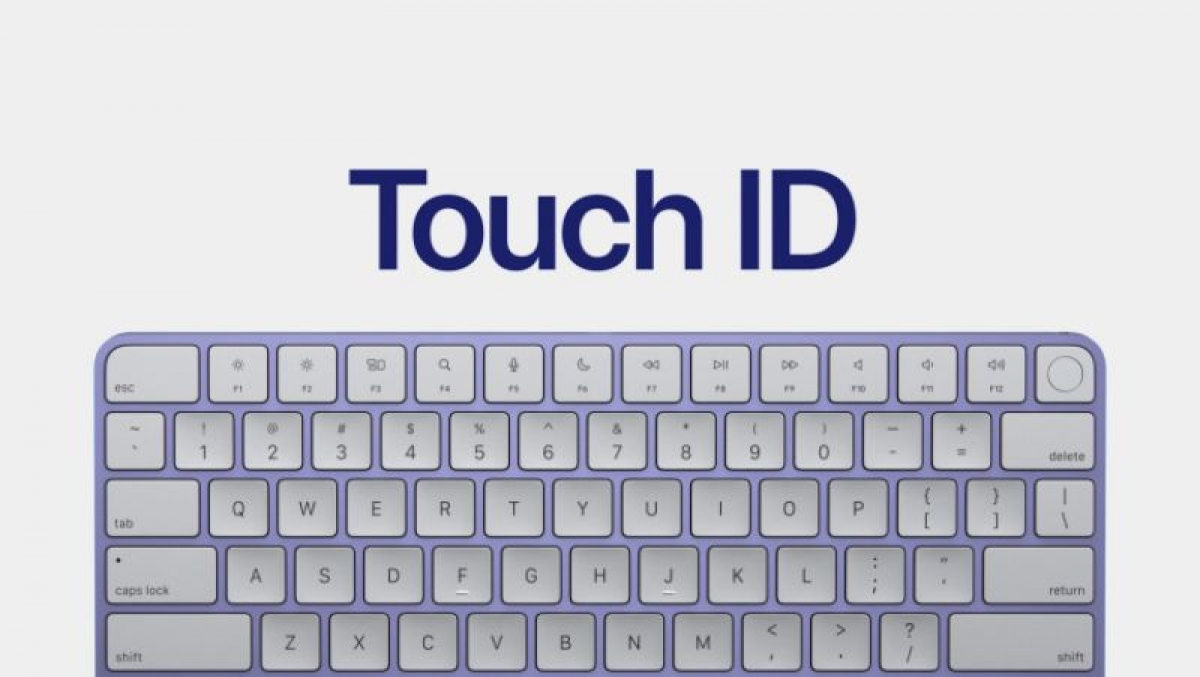 Magic Keyboard tích hợp Touch ID có trên phiên bản iMac M1 giá 1.299 USD.