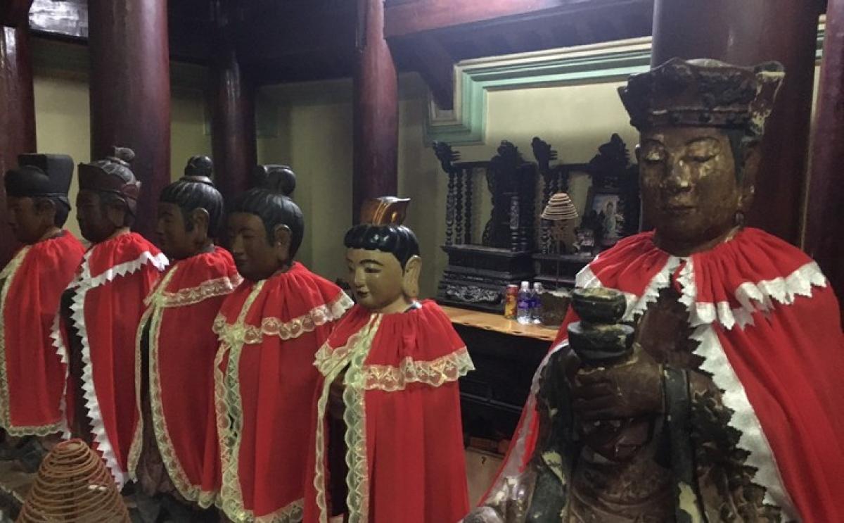 Cho đến ngày nay, những pho thổ tượng cổ vẫn được lưu giữ tại chùa.