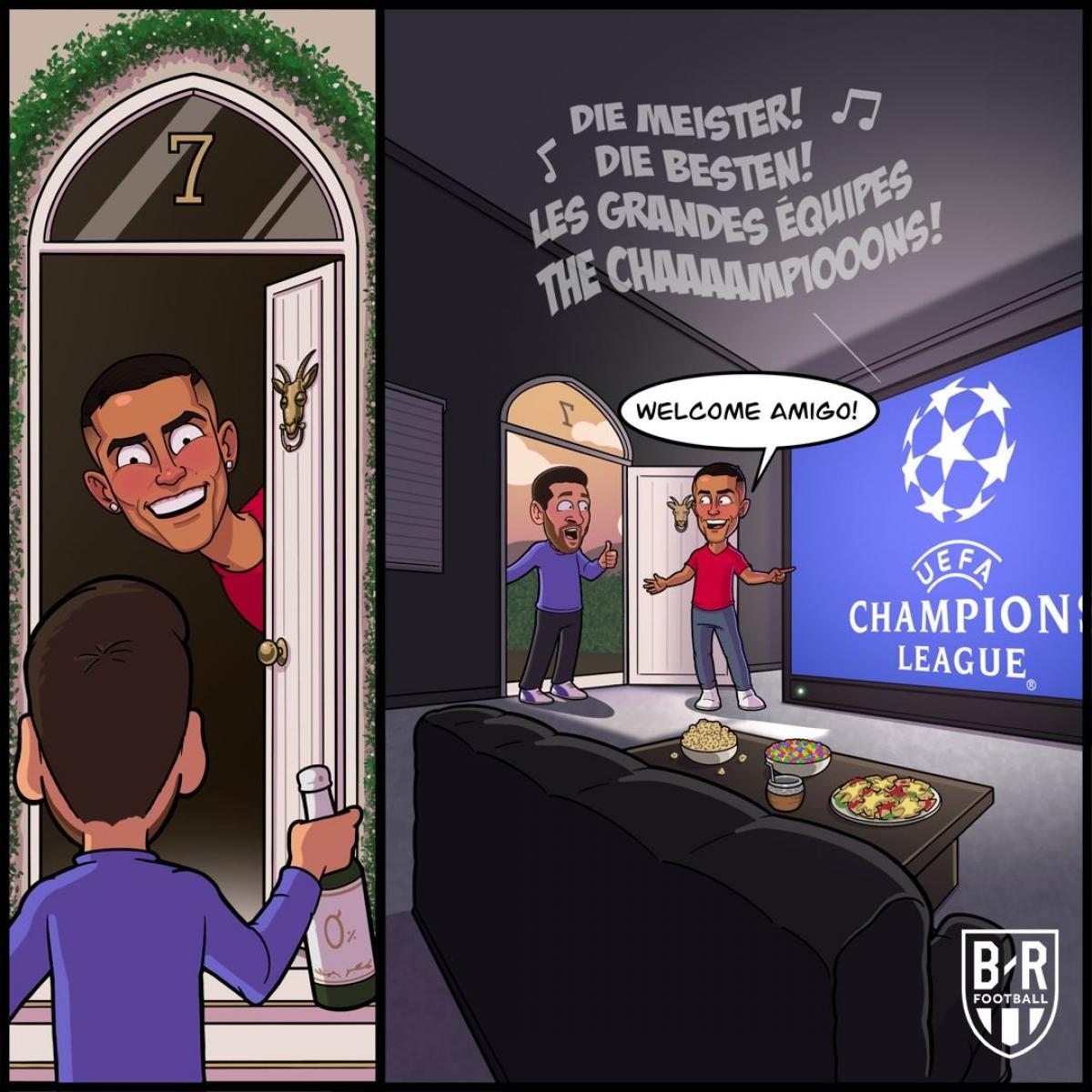 ... xem bán kết Champions League. (Ảnh: Bleacher Report).