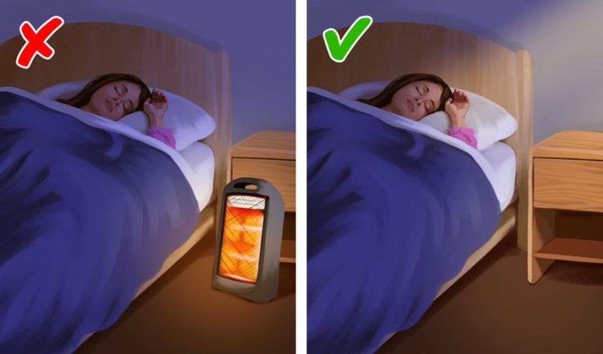 Máy sưởi:Để máy sưởi cả đêm có thể dẫn đến khô da và kích ứng, có thể gây ngứa. Những người có vấn đề về tim và hen suyễn nên hết sức cẩn thận khi sử dụng máy sưởi vì chúng có thể làm tăng mức khí CO trong không khí. Đặc biệt máy sưởi gas còn có thể gây ngạt. Bạn cần tắt lò sưởi khi đi ngủ hoặc rời khỏi phòng. Ngay cả khi bạn đang ở trong phòng bật máy sưởi, hãy đảm bảo rằng không có vật gì dễ cháy gần máy. Nếu bạn bắt đầu cảm thấy chóng mặt hoặc đau đầu, đó có thể là dấu hiệu cho thấy mức CO đã tăng lên một cách nguy hiểm.