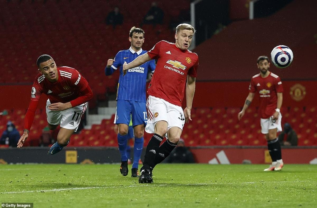 Chiến thắng 2-1 trước Brighton giúp MU nới rộng khoảng cách với đội xếp thứ 3 là Leicester lên thành 4 điểm.