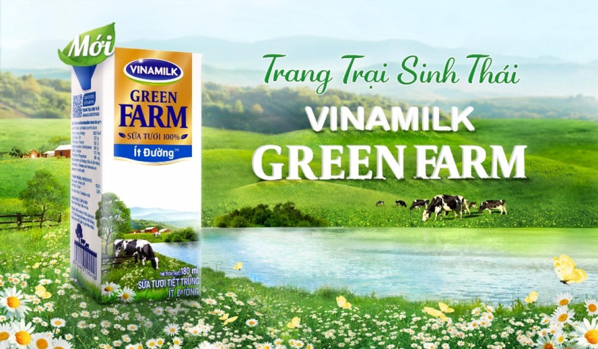 Sữa tươi từ Trang Trại Sinh Thái Vinamilk Green Farm.