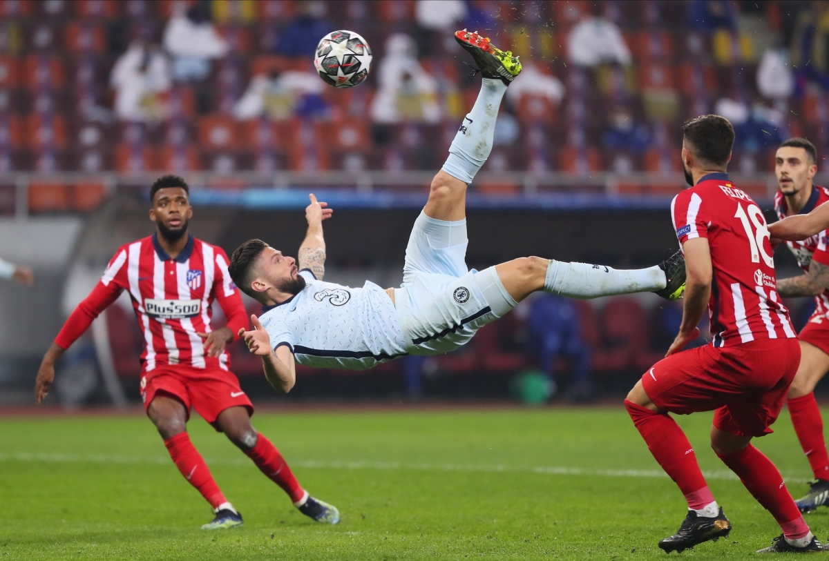 6. Olivier Giroud (Chelsea) 6 bàn thắng, 0 kiến tạo.