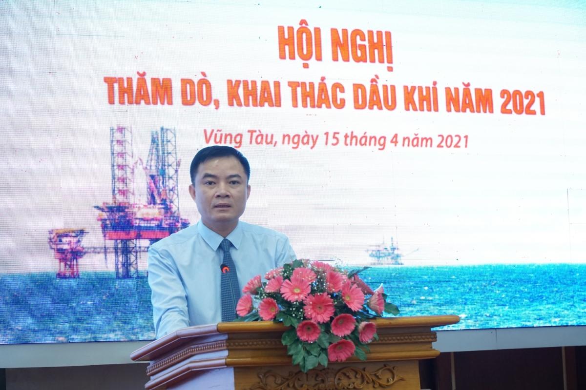 Phó Tổng giám đốc Petrovietnam Lê Ngọc Sơn phát biểu tổng kết Hội nghị.