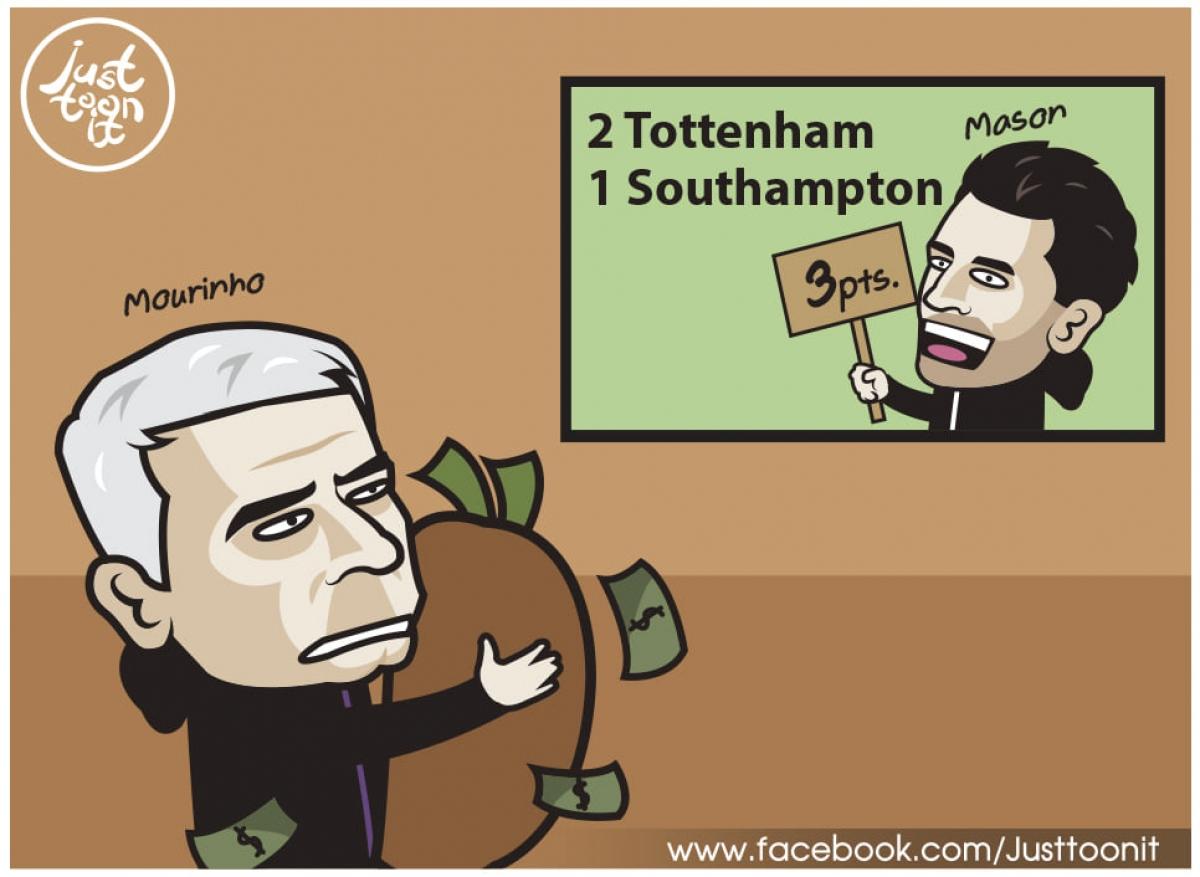 Sau khi Mourinho bị sa thải, Tottenham đã có chiến thắng 2-1 trước Southampton.