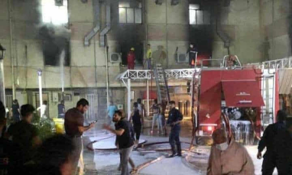 Bệnh viện Ibn Khatib sau vụ cháy. Nguồn: The A&O Board PSF